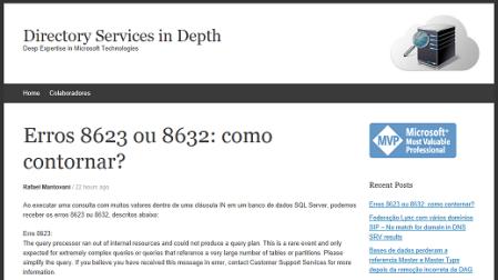 Erros 8623 ou 8632